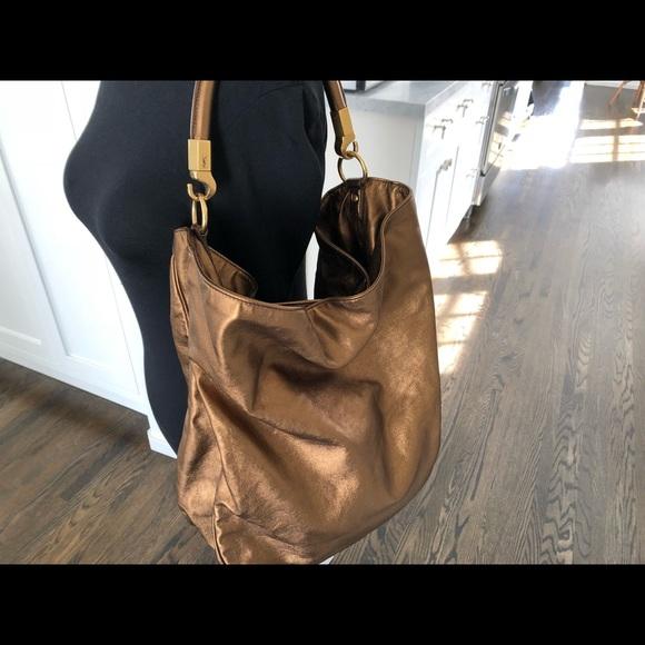 05a3c4b5a7 Yves Saint Laurent Bronze Calfskin Roady Bag